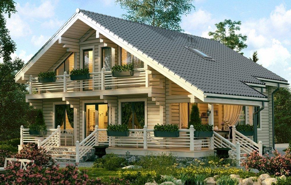 Лучшие дома из клееного бруса