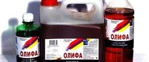 Применение олифы. Характеристики натуральной, полунатуральной, комбинированной и синтетической олифы