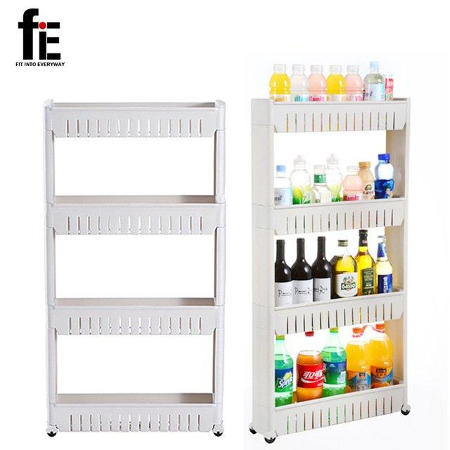 Узкая (за холодильник) этажерка с полкамиfiE FIT INTO EVERYWAY