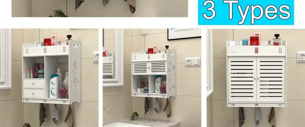 5 вместительных полок для маленькой ванной комнаты с AliExpress