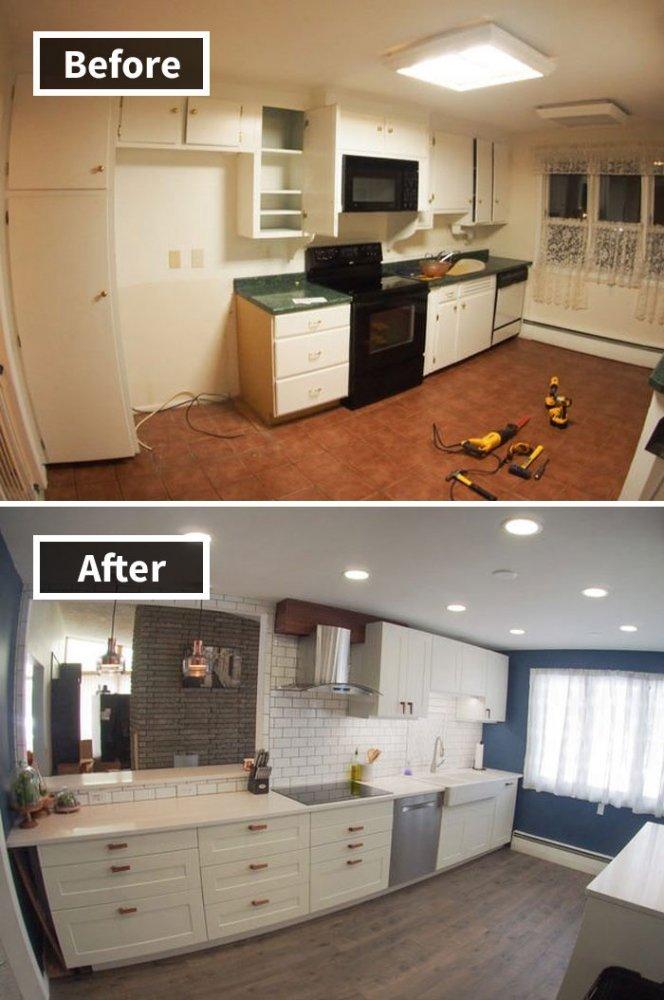 Ремонт до и после фото 2
