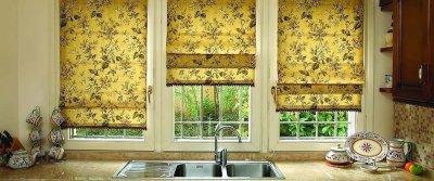 5 красивых римских штор для кухни