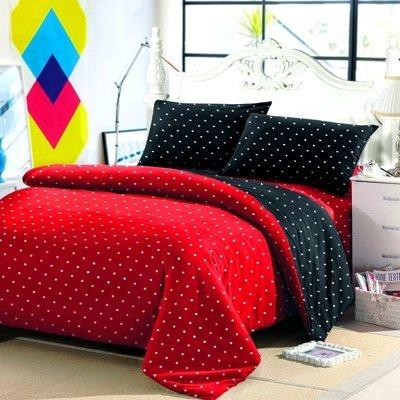 set-seprei--sarung-bantal-guling_jaxine-sprei-100x200x20cm-katun-motif-polkadot---merah-dan-hitam_689662_2_33384
