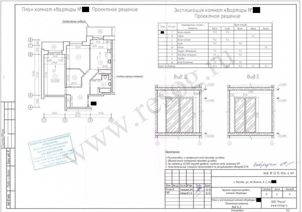Согласование перепланировки квартиры в Москве после ремонта