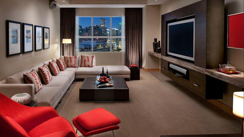 Современная гостиная фото 39