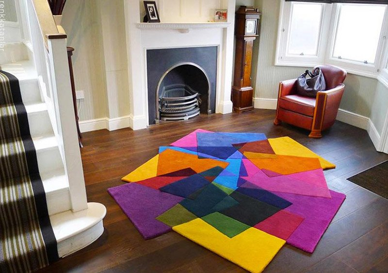 Креативные ковры в интерьере