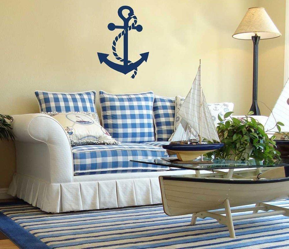 Голубой цвет в интерьере в морском стиле фото 29