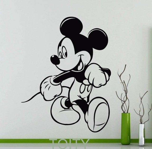 Всегда веселый Микки Маус для стены в детcкой TOITY