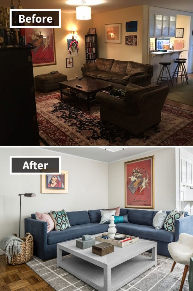 Ремонт до и после фото 28