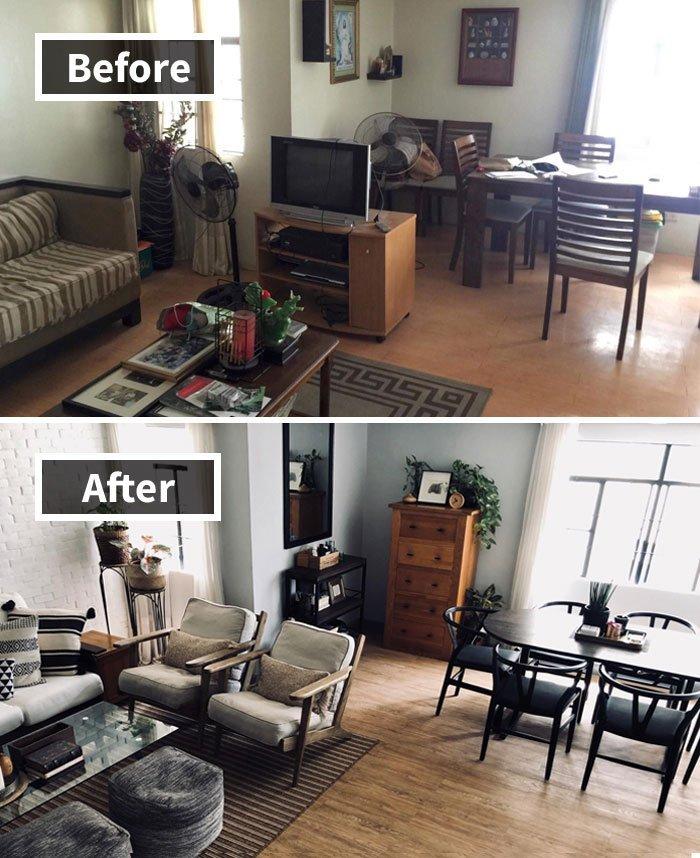 Ремонт до и после фото 9