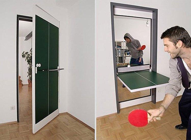 Дверь-трансформер со столом для пинг-понга