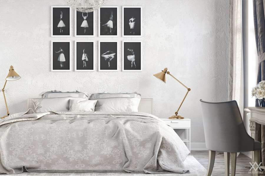 Оригинальный интерьер спальни в скандинавском стиле