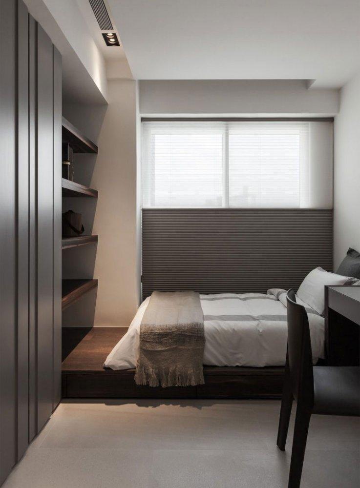 Дизайн узкой комнаты фото 8