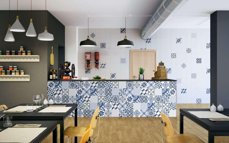 Плитка в стиле пэчворк для кухни и ванной