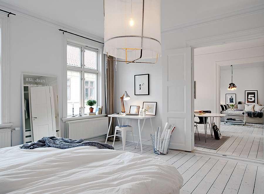 Открытое пространство в скандинавском стиле