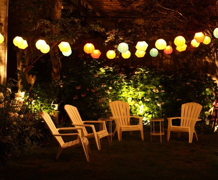 Декоративное освещение на даче фото 4