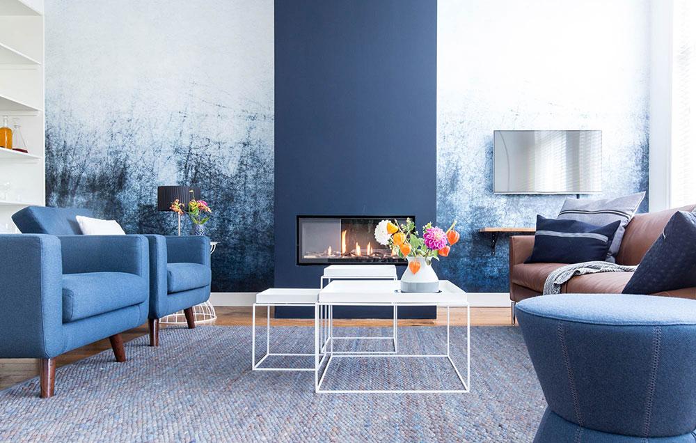 Голубой цвет и его сочетания в интерьере – 50+ фотоидей