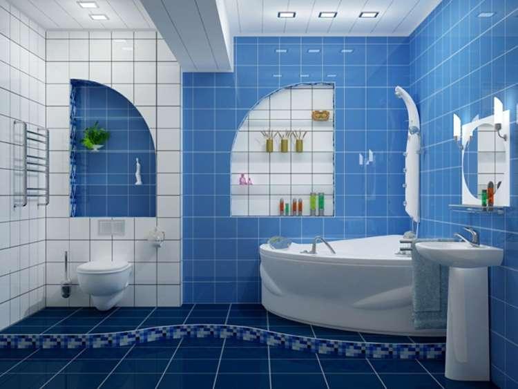 синий цвет в интерьере фото 16