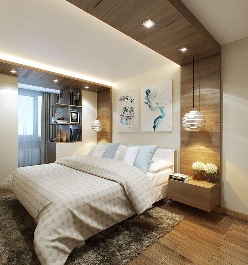 Дизайн узкой комнаты фото 23