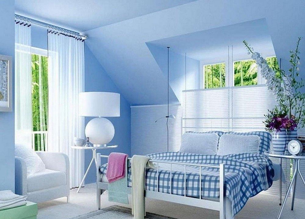 Сочетания голубого цвета в интерьере фото 6