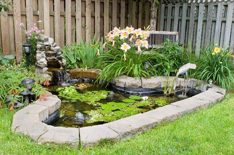 Декоративный пруд на даче фото 23