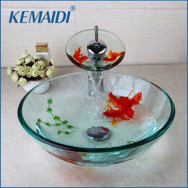 Стильная раковина из закаленного стеклаKemaidi
