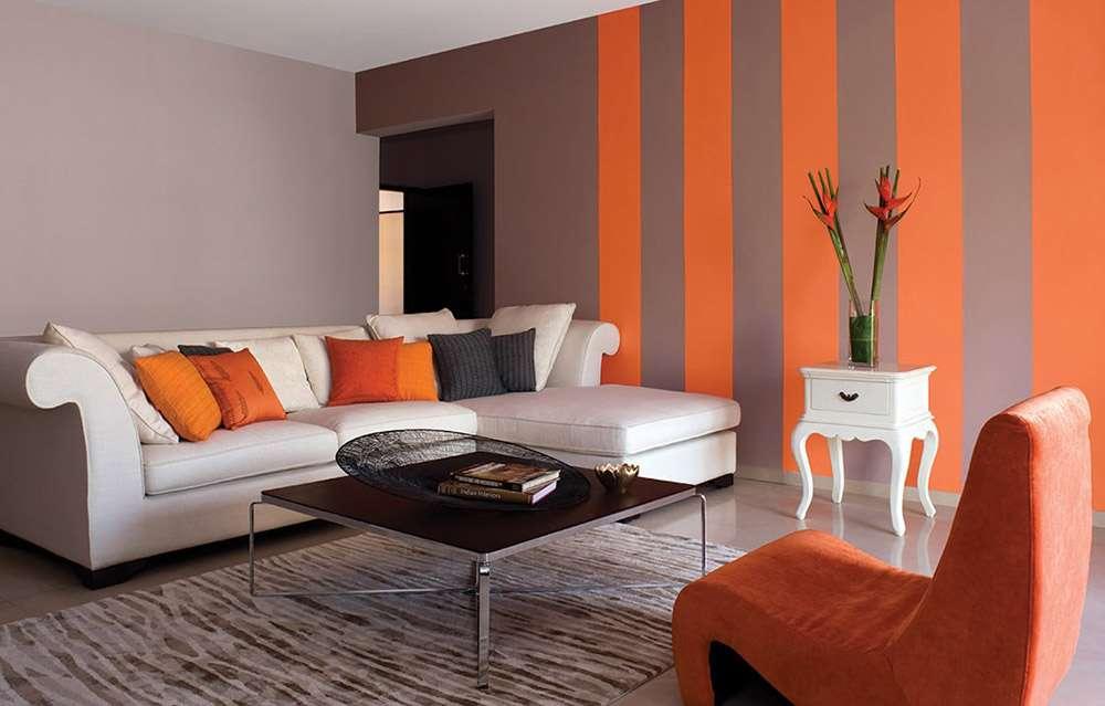 Сочетание оранжевого в интерьере