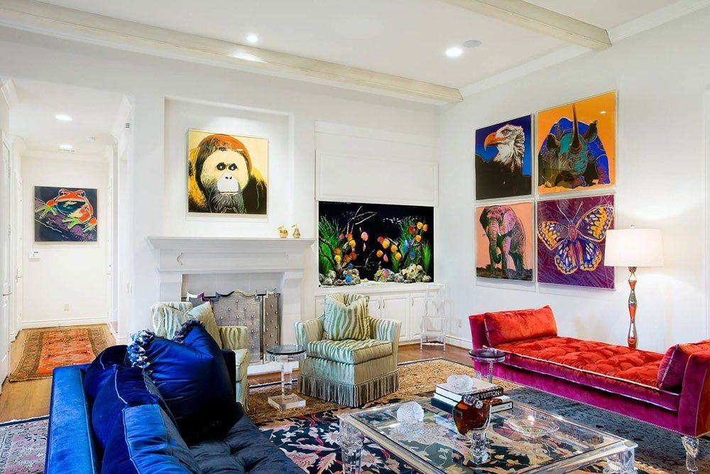 Современная гостиная в стиле поп-арт фото 2