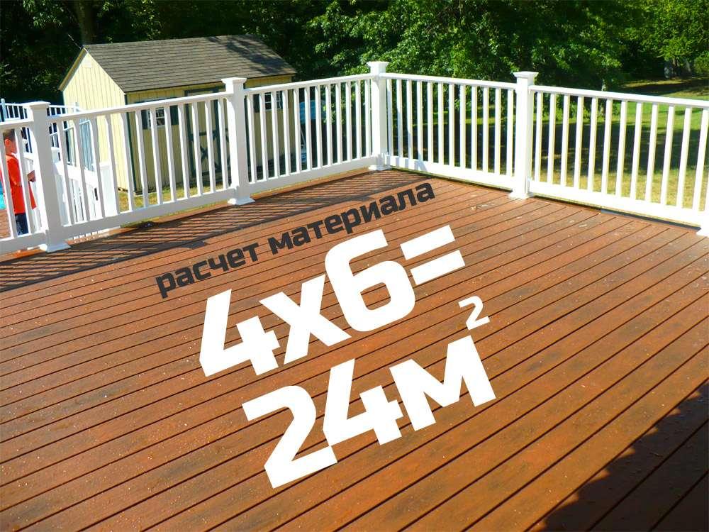 Терраса площадью 24 квадратных метра