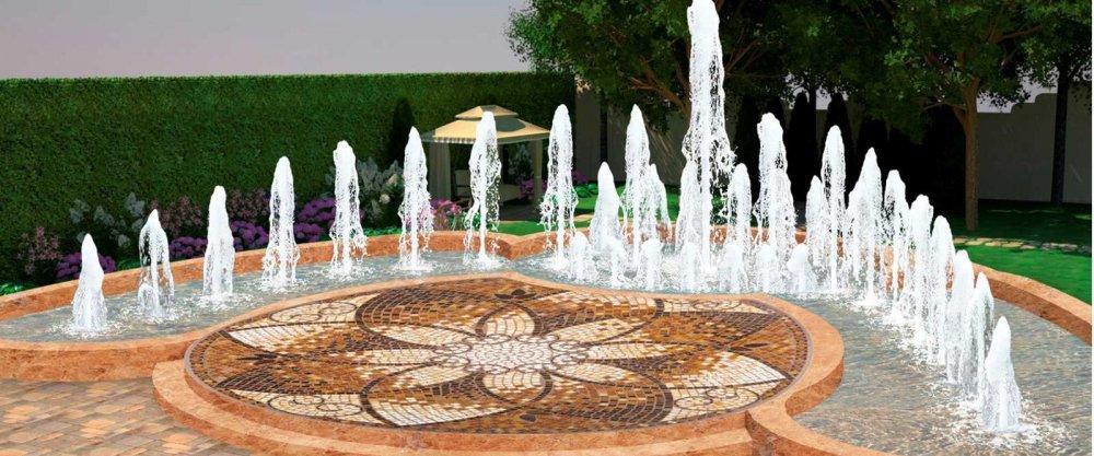 Строительство фонтанов, проект фонтана, обслуживание фонтана