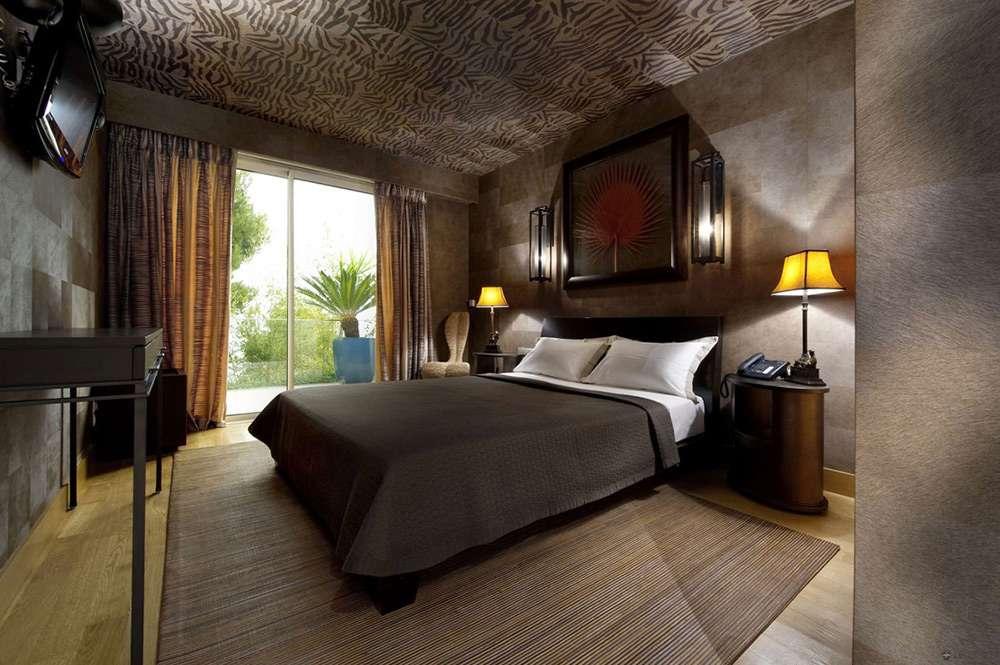 Красивый интерьер спальни в этническом стиле