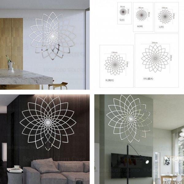 Зеркальные наклейки на стену BACKGROUNDTURNOVER