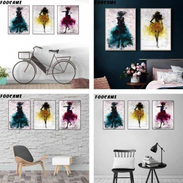 Триптих для гостиной в стиле Лофт FOOCAME