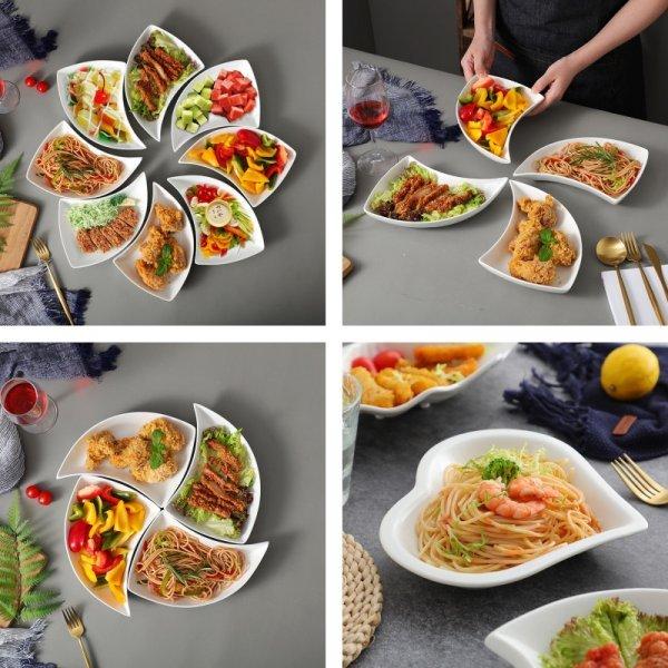 Набор сервировочных тарелок от ALILIFE (9 видов)