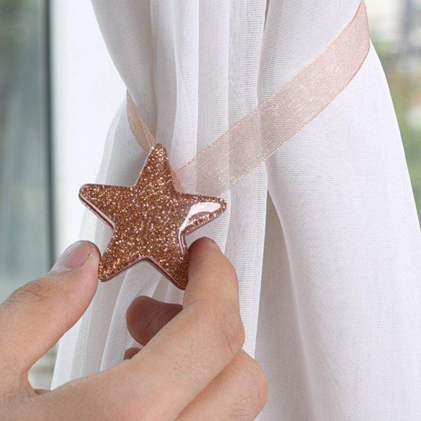 Сказочный подхват для штор на магните Luck Star (1 шт, 4 цвета)