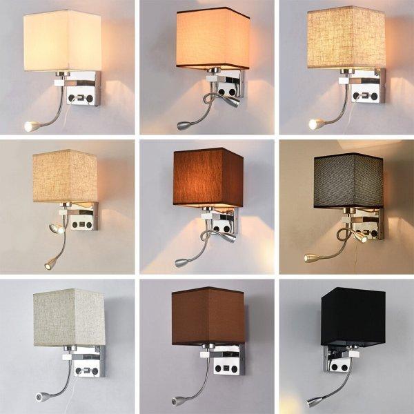 Бра с дополнительной лампочкой для чтения и USB от GO OCEAN