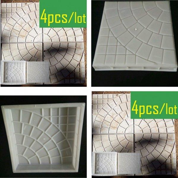 Форма для тротуарной плитки от OLOEY (размер 25*25*4 см, 4 шт)