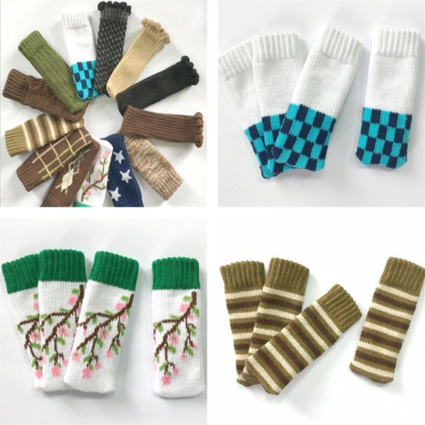 Забавные носочки для ножек стульев от MROSAA (17 видов)