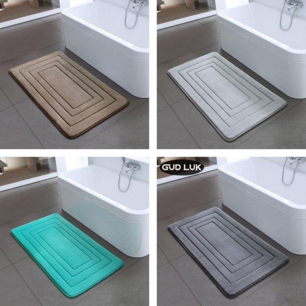Шикарный коврик в ванную GUDLUK (2 размера, 4 цвета)