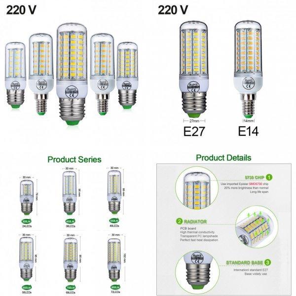 Почти долговечная светодиодная лампа Goodland E2, E14