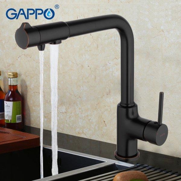 Один кран для водопровода и очищенной воды Gappo