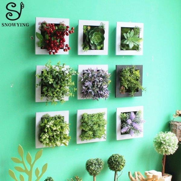 Искусственные цветы - декор на стену от SNOWYING (34 вида)