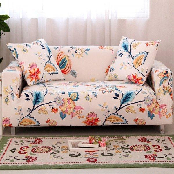 Декоративный чехол на диван в современном стиле FORCHEER (24 принта, 1-2-3-4 местные)