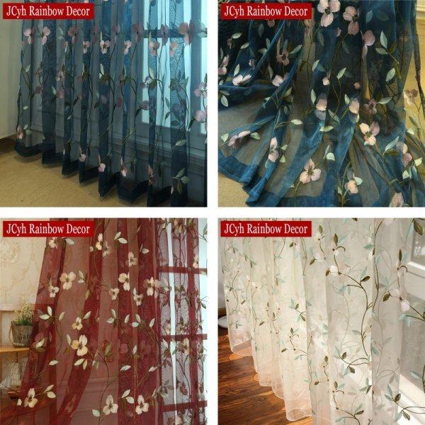 Занавески с вышивкой отJCyh Rainbow Decor (3 цвета)