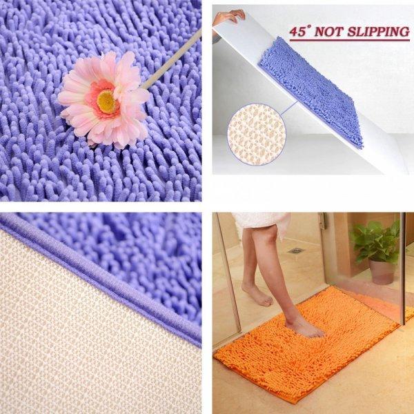 Лохматый коврик для ванной