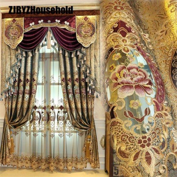 Роскошные шторы в восточном стиле от ZJBYZHOUSEHOLD