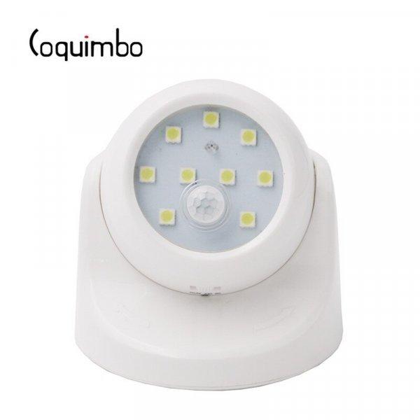 Вращающаяся лампа с датчиком движения от COQUIMBO
