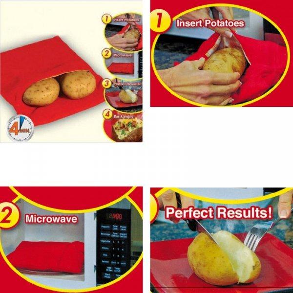 Пакет для запекания овощей в микроволновке Chizequar (ткань)