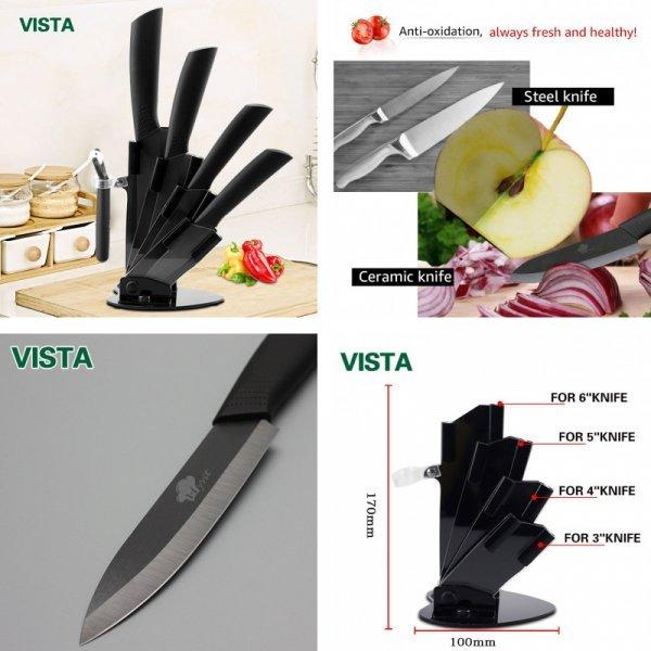 Набор керамических ножей от  MYVIT (5 цветов, 2 комплектации)