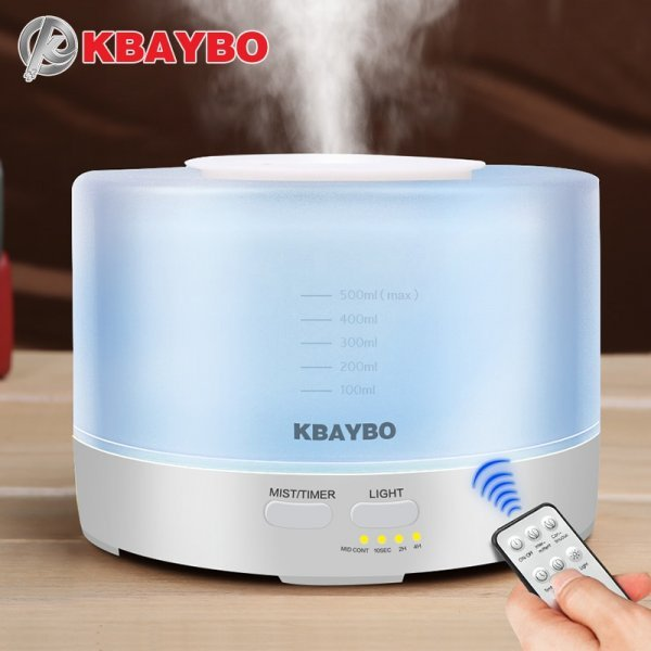 Светодиодный увлажнитель для ароматерапии от KBAYBO (500 мл)